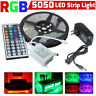 5M RGB 5050 Waterproof LED Strip light SMD 44 Key Remote 12V US Power Set US