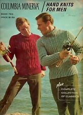 Columbia Minerva Hand Knits for Men Pattern Book #763