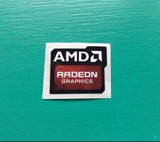 AMD Radeon Graphics Sticker 16.5 x 19.5mm Case Badge | New Version | USA Se