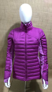 Lululemon Size 10 Jacket Purple Puffer Goose Down Stretch