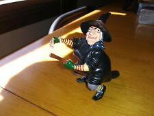 Papo Toys WITCH on broomstick RARE HTF Medieval figurine
