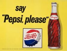 Retro SAY PEPSI PLEASE inspired Pub Shed Bar Man Cave Kitchen Metal Vintage SIGN
