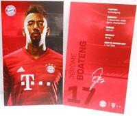 Jerome Boateng + Autogrammkarte 2019/2020 + FC Bayern München + AK2019108 +