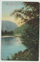 1908 Postmarked Postcard Morning on the River Delaware Water Gap Pennsylvania PA