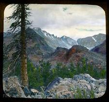 Lantern Slide Photo, In a Mountain Range, hand colored