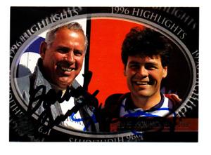 NASCAR David Pearson & Michael Waltrip autographed card NO RESERVE