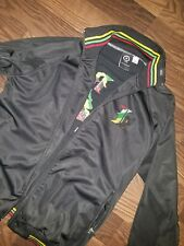 LRG Lifted Research Group Track Jacket Men's Zip Up Green Black Size Large NWOT