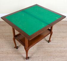 Vintage Trolley Card Games Table Walnut Portable Tea Drinks TrolleyHostess