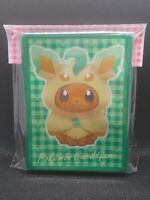 Pokemon center JAPAN - Eevee poncho Leafeon card Deck Shields (64 Sleeves)