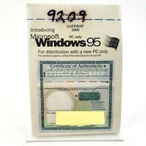 NEW SEALED Microsoft GATEWAY 2000 Windows 95 Software with Product Key