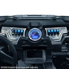 Polaris RZR XP1000 2 Piece Dash Panel Includes (6) Switches Raw Machined Finish