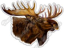 """Moose Head Racks Hunting Hunter Antlers Elk Car Bumper Vinyl Sticker Decal 5""""X4"""""""