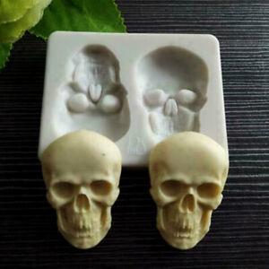 Silicone  Skull Head Fondant Mould Skeleton Chocolate Mold Cake DIY Baking