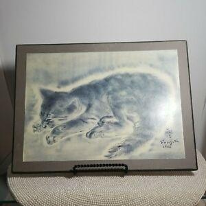 "TSUGOUHARA FOUJITA PETIT CHAT Cat Print Board MMA #183 9.5"" x 12"""
