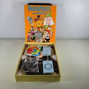 Vintage BULLWINKLE AND ROCKY Role Playing Party Game 1988 Unplayed Unused