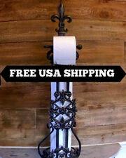 Iron, Free Standing, Toilet Paper, Holder, Storage, Old World, Tuscan, Hacienda