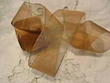 "2"" Copper Mesh Organza Sheer Ribbon - Made In Japan"