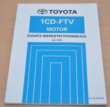Toyota RAV4 Motor 1CD-FTV 2003 CLA 20 21 Zusatz Motor Werkstatthandbuch