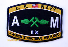 US NAVY Aviation Structural  Mate AM RATING HAT PATCH USS PIN UP ENLISTED CHIEF