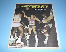 1970- 71 Los Angeles Lakers Jerry West Topps Nba Basketball Poster