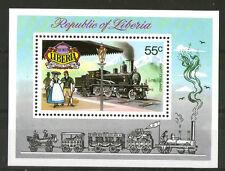 Liberia 1973 Suisse Locomotive à vapeur miniature sheet SG MS 1155 neuf sans charnière
