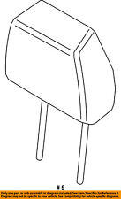 FORD OEM 15-16 Edge Rear Seat-Headrest Head Rest FT4Z58611A08DH