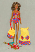 Barbie FRANCIE Doll 1960s VINTAGE Clothes AUTHENTIC 1967 Swimsuit SUMMER COOLERS