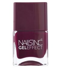 Nails inc Gel effect Kensington high street Nail Polish Deep wine red burgandy