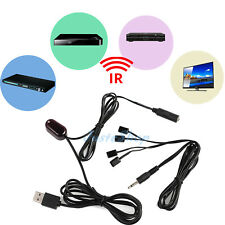IR 1 Receiver4 Emitters Infrared Remote Extender Hidden Repeater System Kit US