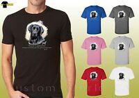 Black Labrador T Shirts Cute Dog Black Lab Graphic Design Unisex T-Shirt (17398)