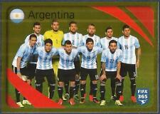 PANINI-2016 FIFA 365- #851-ARGENTINA TEAM PHOTO-GOLD FOIL