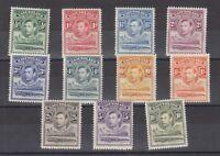 Basutoland KGVI 1938 Set To 10/- SG18/28 MLH J1858