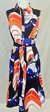 Talbots Geometric Sailboat Print Sleeveless Shirt Dress Sz 10; $149; Work/Casual