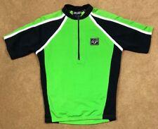 Fox Racing Mens Medium 1/2 Zip Green Black Short Sleeve Cycling Jersey F