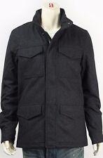 New Levi's Mens 13959 Black Hidden Hood Canvas Insulated Waist Pull Coat XXL