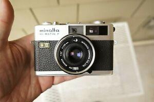 Minolta Hi-Matic F Rangefinder 35mm Film Camera 38mm f/2.7 lens