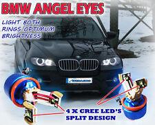 40w 4 x CREE Split design in alluminio Angel Eye Halo Anelli Brightest Blu Tinta h8