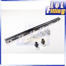 For Supra Mkiv 2JZ-GTE High Flow CNC Billet Aluminum Alloy Fuel Rail Black