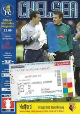 Football Programme plus Ticket>CHELSEA v WATFORD Jan 2004 FAC