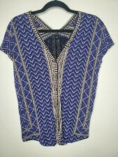 Lucky Brand XS Blouse, top blue print
