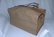 BOTTEGA VENETA Genuine Leather Collapsible Handheld Duffle Bag-Beige/Camel-Nice!