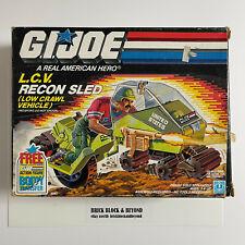 New listing Hasbro G.I.Joe Arah 1986 L.C.V. Recon Sled Low Crawl Vehicle Mib Sealed Contents