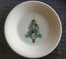 "NEW!  FIESTA WARE Cream CHRISTMAS TREE 9"" LUNCHEON PLATE Homer Laughlin"