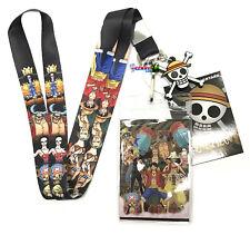 **Legit** One Piece Straw Hat Crew New World Badge ID Holder Lanyard #37798