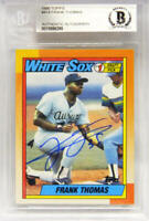 FRANK THOMAS Signed White Sox 1990 Topps Rookie Card #414 - Beckett Encapsulated