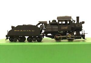 MANTUA HO Scale Brass Reading 0-4-0 Locomotive #1187 & Tender