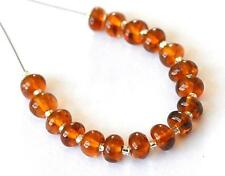 HESSONITE GARNET BEADS RONDELLE 4.5 MM NATURAL GEMSTONE 12 CTS - 17 PCS @1103