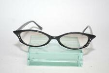 Vintage Sunscape Eyez Cateye Eyeglasses Frames Black Rhinestones