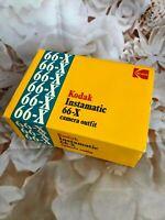 Kodak Instamatic 66-X 126 Vintage Camera - IN ORIGINAL CASE WITH HANDBOOK