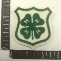 Vtg 4-H Youth Organization Advertising / Uniform Printed Felt Shield Patch 00WG